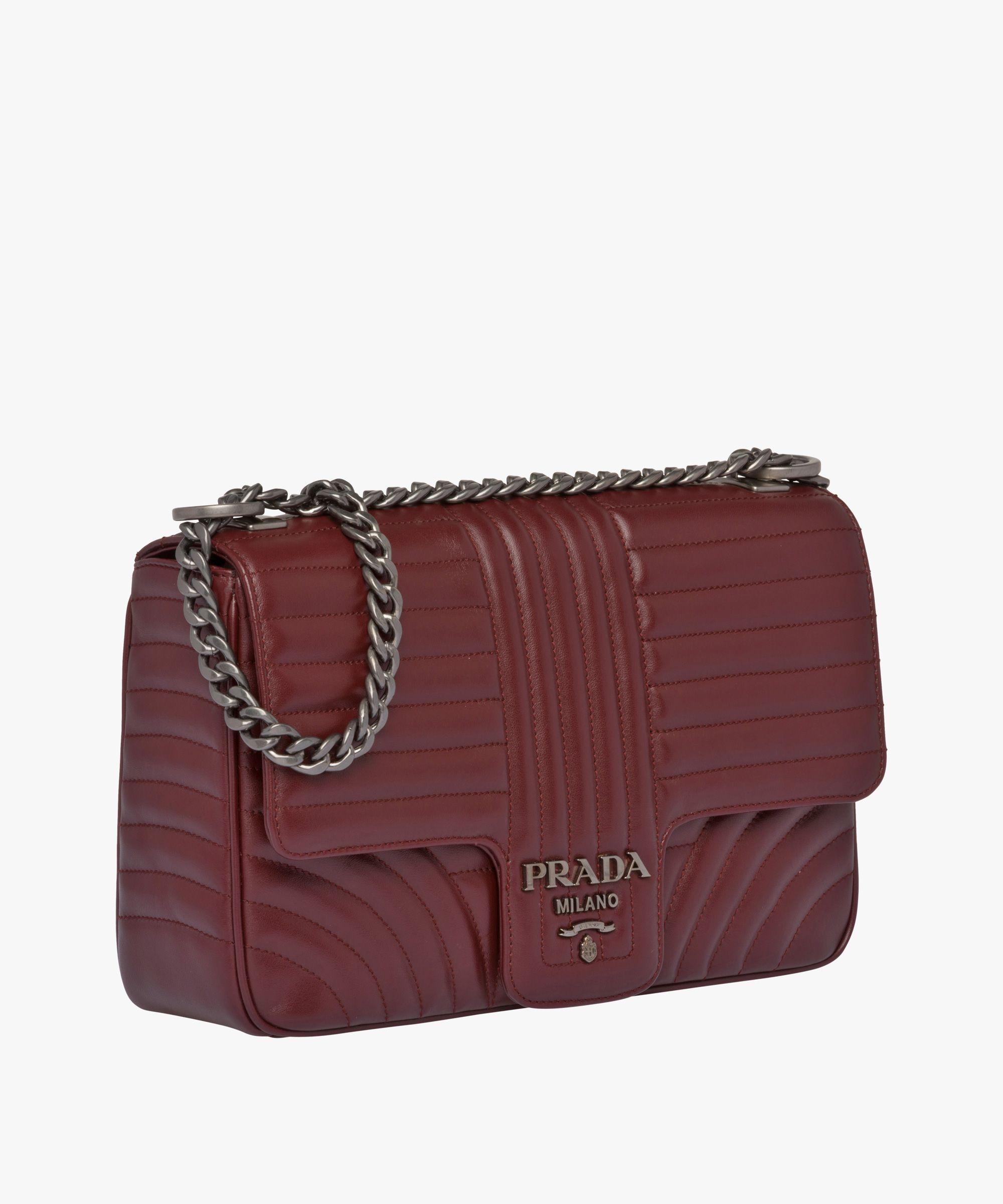 43f701deb3ee Prada Diagramme leather shoulder bag Prada GARNET 3