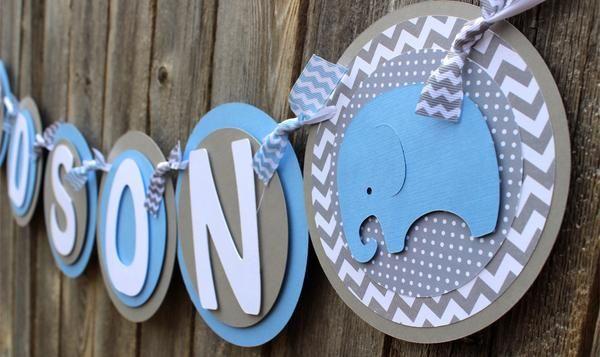 Elephant Chevron Baby Shower Banner Elephant Baby Shower Banner Baby Shower Banner Baby Boy Shower