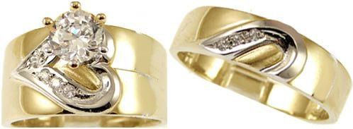 White Gold Wedding Rings heart lab created gems is a wonderful