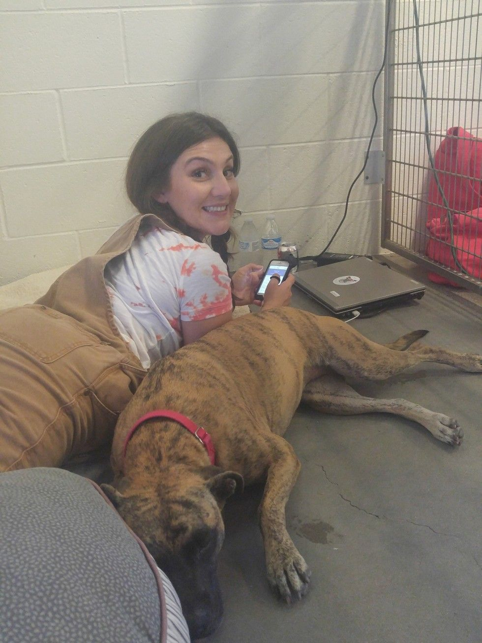 Shelter Worker Vows To Live In Kennel With Dog Until She S Adopted Dog Kennel Cheap Dog Kennels Shelter Dogs