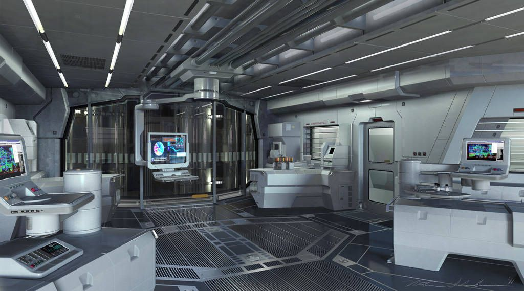 Future Futuristic Interior Science Fiction Laboratory The Avengers Illustrations By Nathan Schroeder