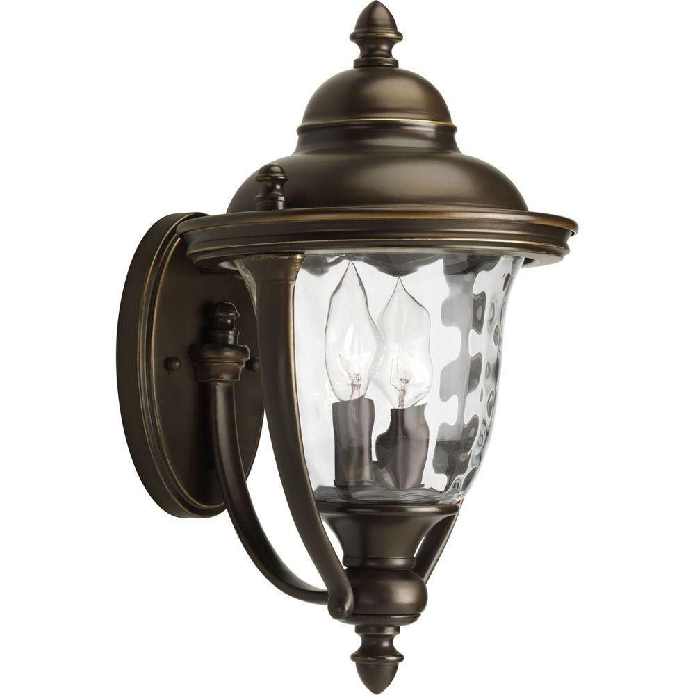 Hampton bay prestwick collection light oilrubbed bronze outdoor