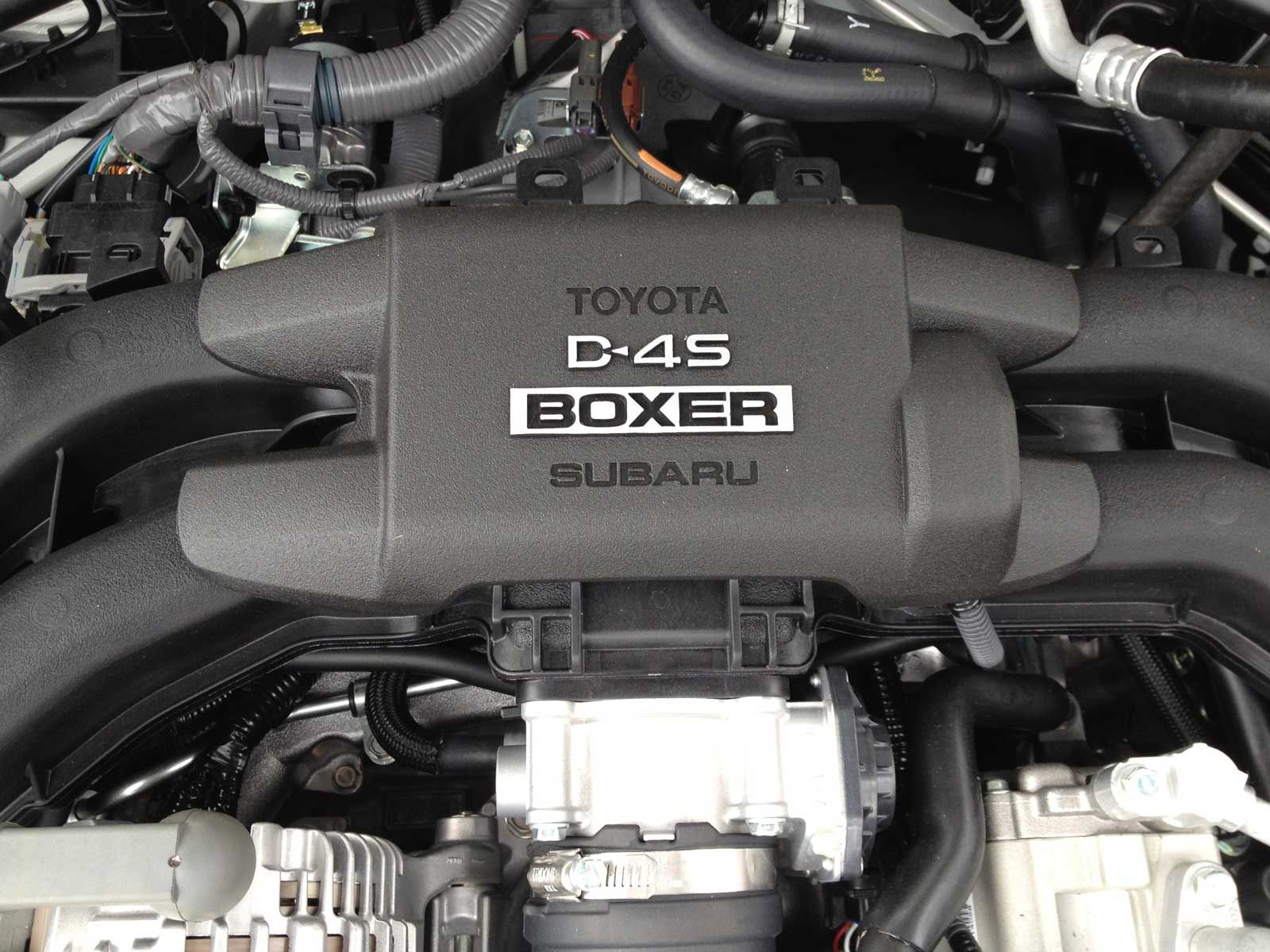 Subaru's 2.0L horizontally-opposed 4-cylinder engine topped by Toyota's D4-S
