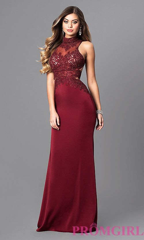 High Neck Homecoming Dress