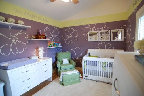 Love the idea and color concept of this girl's room.....but with big girl furniture
