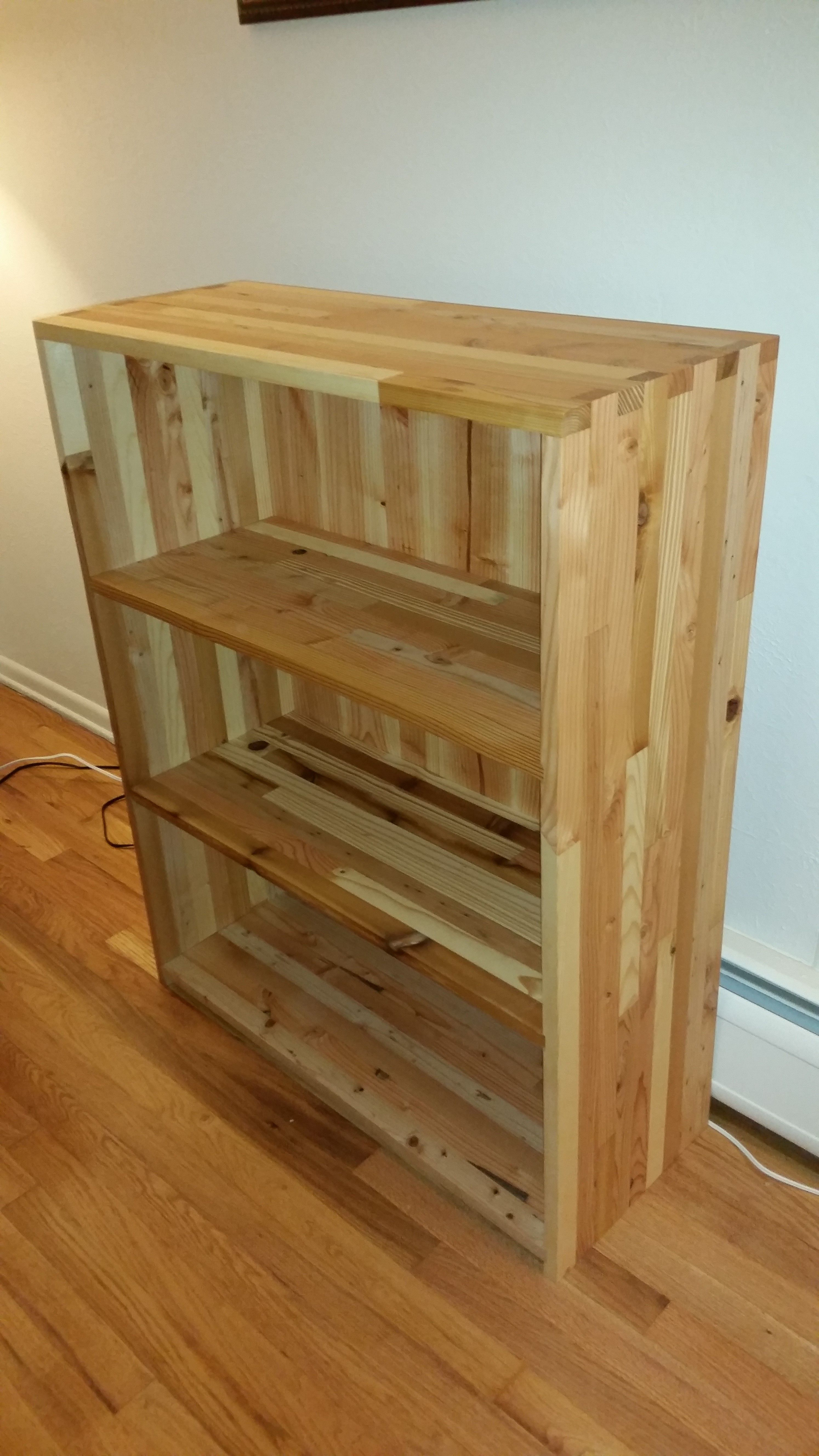 All Natural Reclaimed Coniferous Wood Bookshelf. Made From Douglas Fir,  Ponderosa Pine, Western