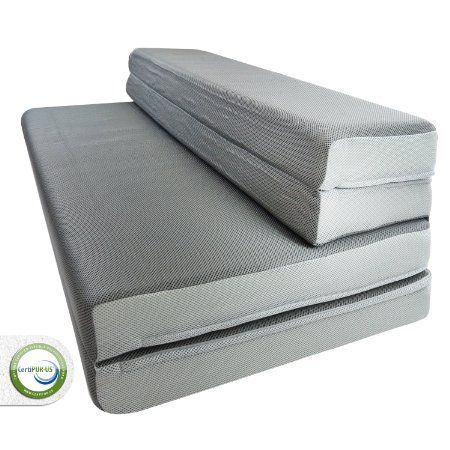 "Amazon.com - LUCID® by Linenspa 4"" Folding Foam Mattress ..."