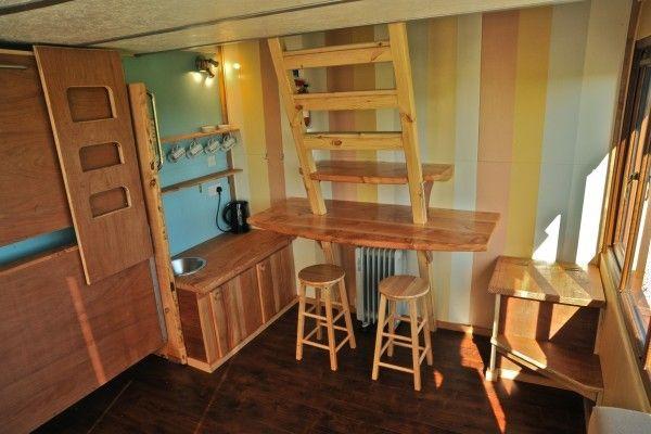 120 Sq Ft Tiny Cabin By Tinywood Homes Inside Tiny Houses Tiny House Inspiration Tiny House Floor Plans