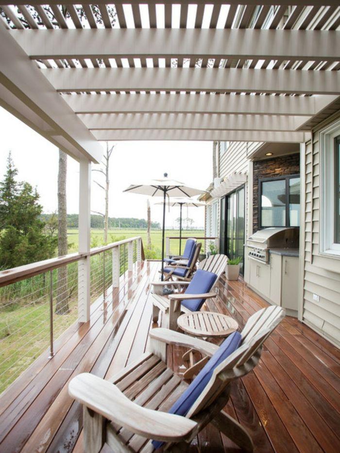 ▷ 1001+ tolle Ideen für Balkonüberdachung aus Holz