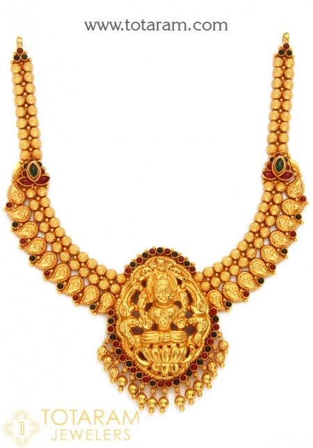 22k gold temple jewellery necklaces harams pinterest gold 22k gold temple jewellery necklaces mozeypictures Image collections