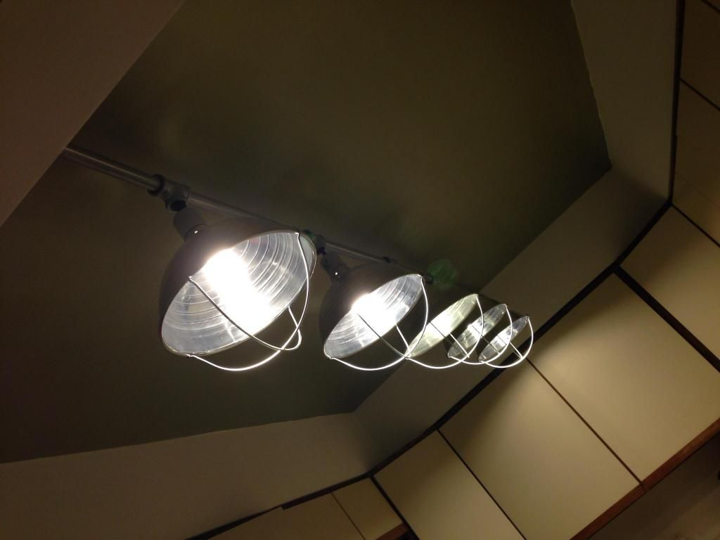 custom kitchen lighting. Custom Kitchen Light Fixture Made With Chicken Brooder Lights, EMT Conduit And Pipe Fittings. Lighting R