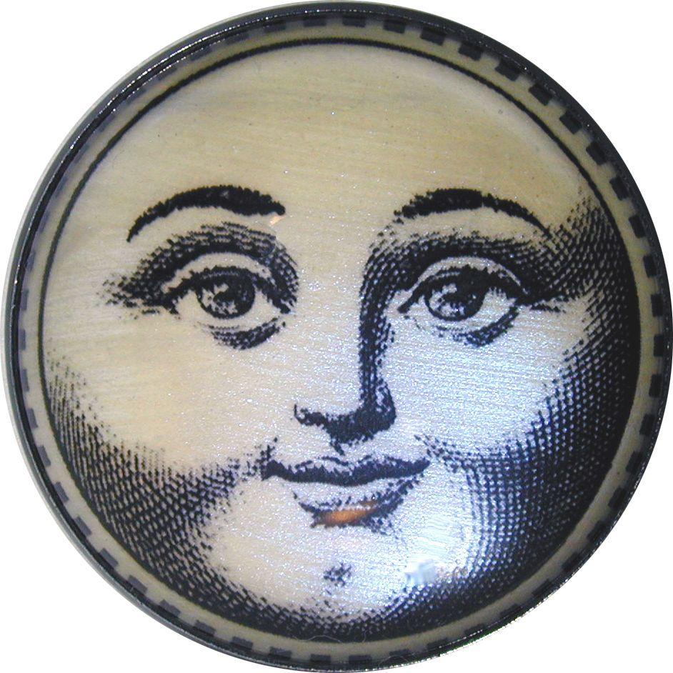 Vintage Moon Face Sun/Moon Face w/ Iride...