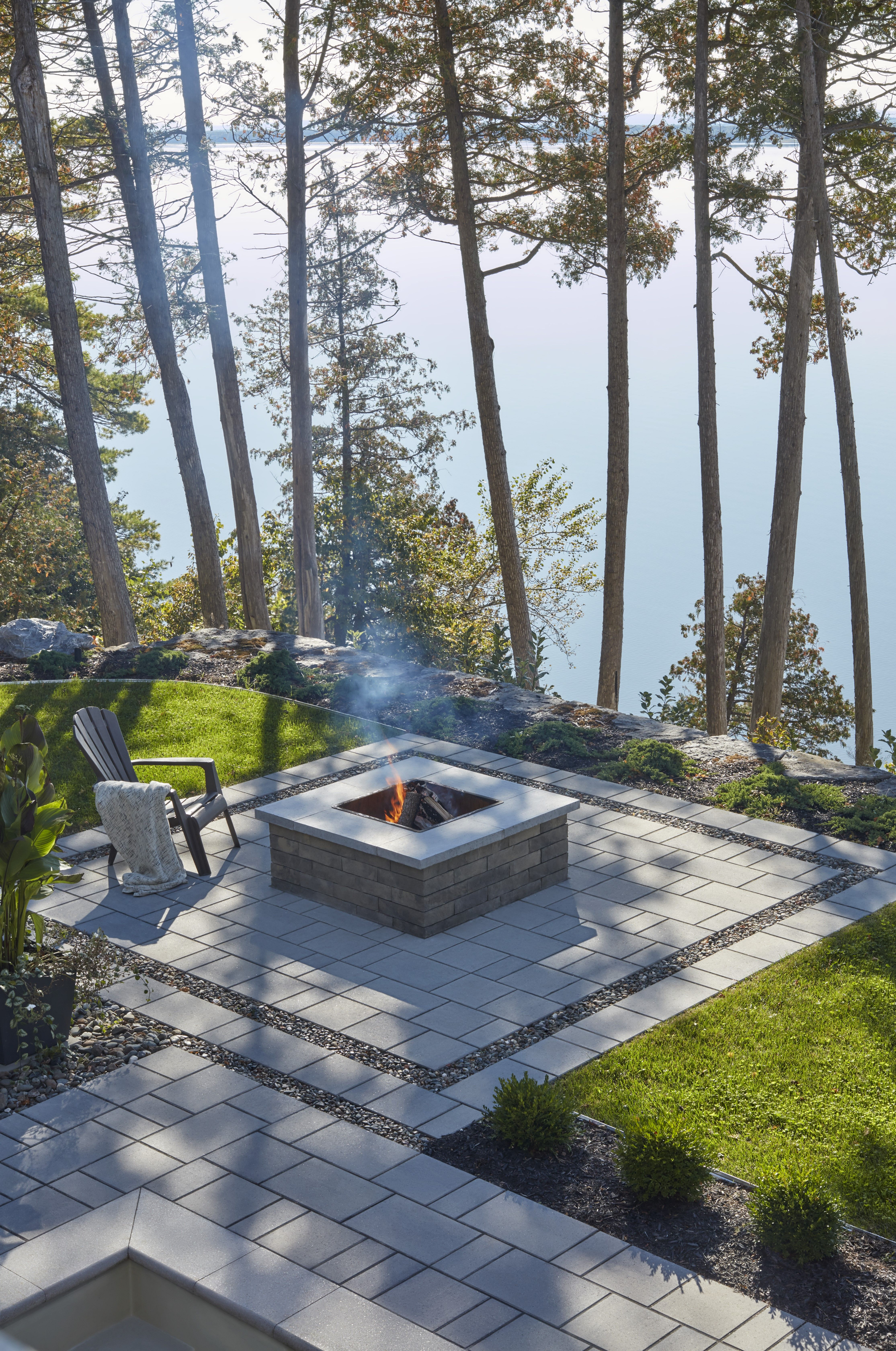 This Backyard Fire Pit Design Is Inspired By Our Brandon Wall The Brandon Fire Pit Is A Pre Packaged Ready To Assemble In 2020 Outdoor Fire Fire Pit Backyard Outdoor