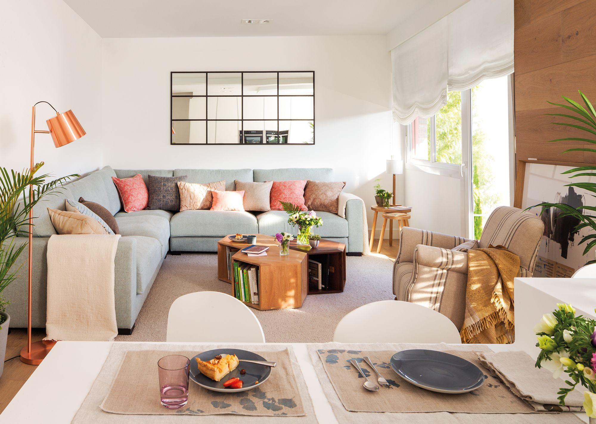 Abierto al comedor en 2019 casa sal n moderno sofa - Comedor salon moderno ...