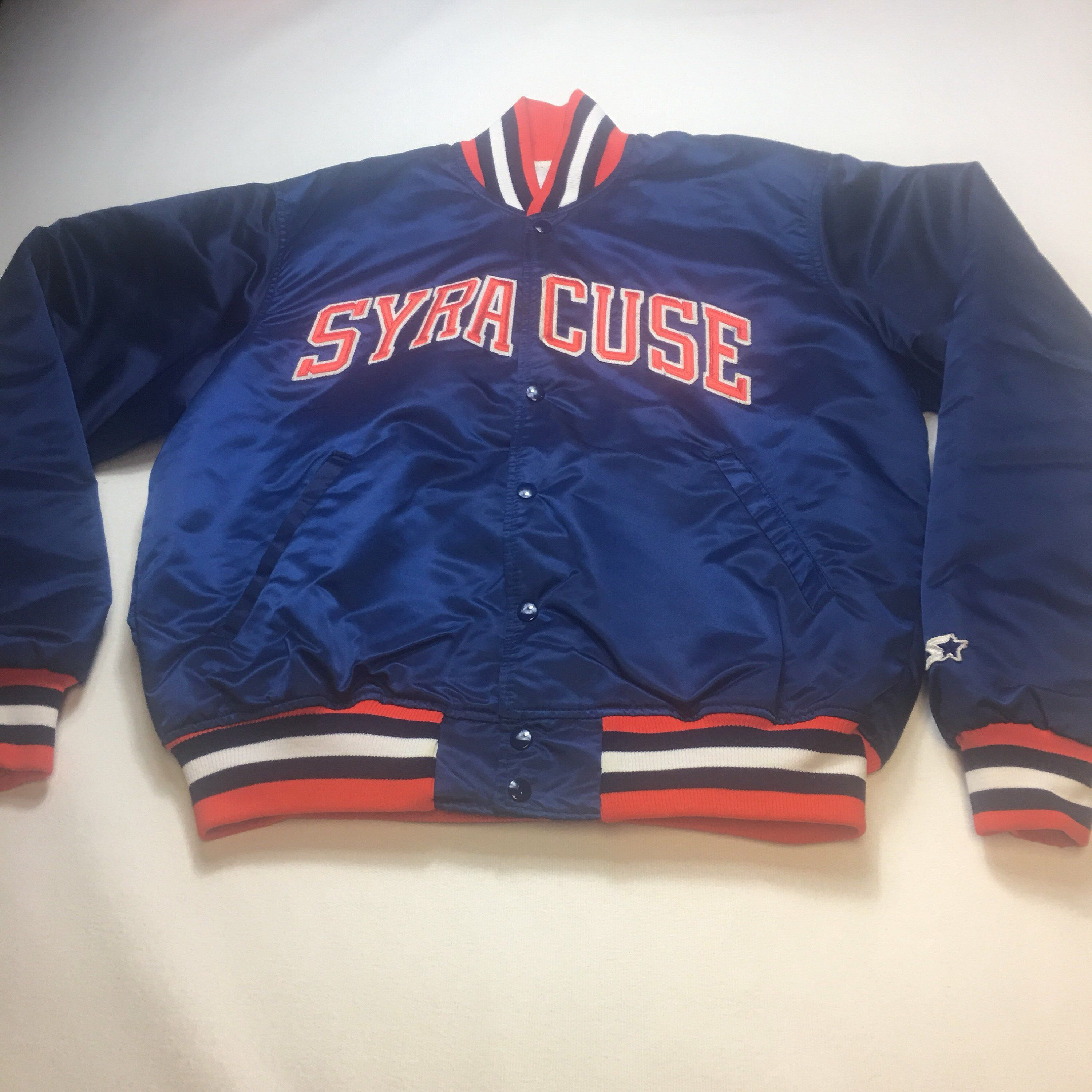 Excited to share this item from my  etsy shop  Vintage Mens Large Syracuse  University Orangemen Satin Starter Bomber Jacket 675f6047b