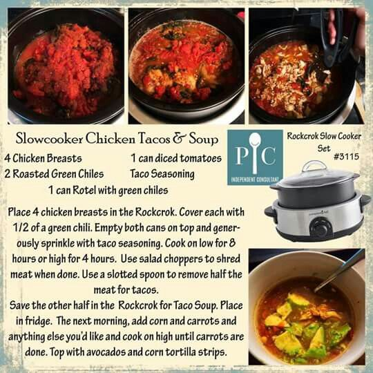 Slow Cooker Chicken Taco Soup Pampered Chef Recipes Pampered Chef Pampered Chef Consultant