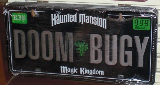 Doom Buggy License Plate Disney Haunted Mansion
