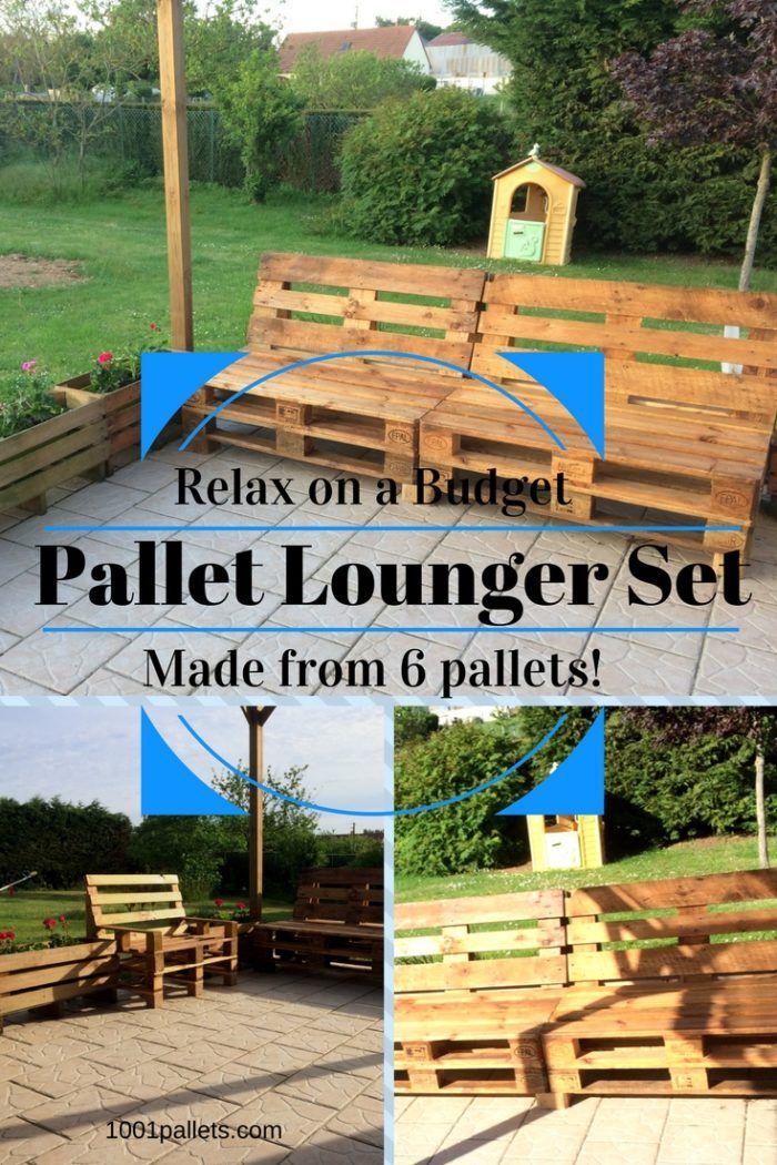 My Relaxing Pallet Lounge Corner Set / Mon Petit Coin Détente ...