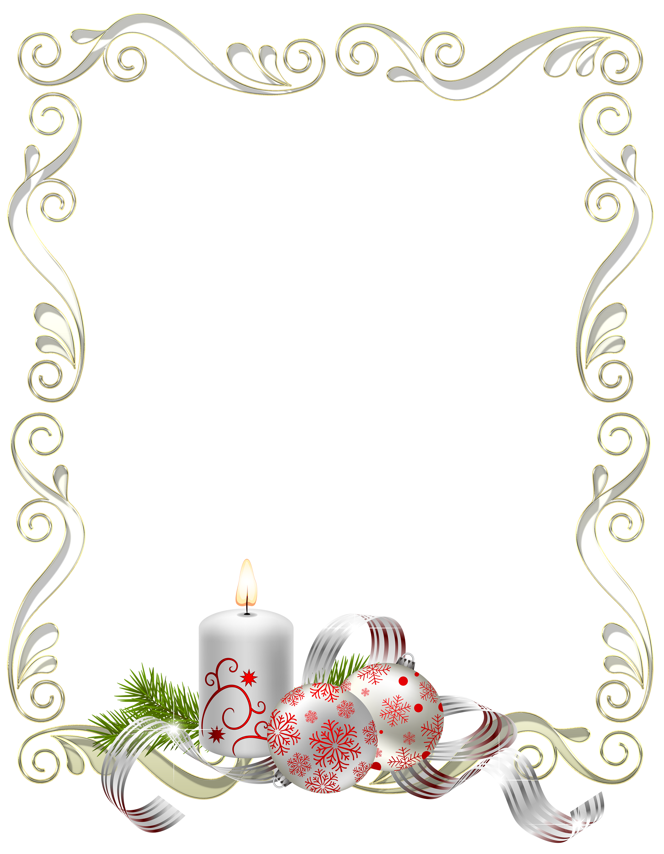 Christmas frame bulbs and candles silver | stationary | Pinterest ...