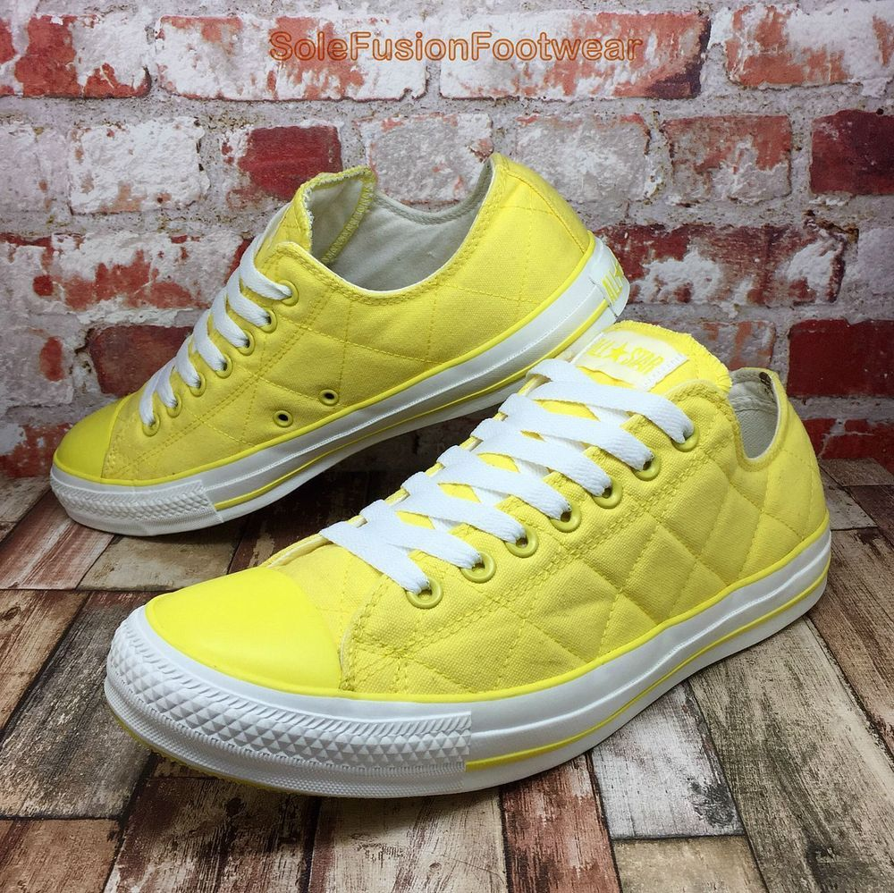 2468035d40b62 Converse All Star Mens Quilted Trainers Yellow sz 11 Chuck Taylor Sneakers  EU 45 | eBay
