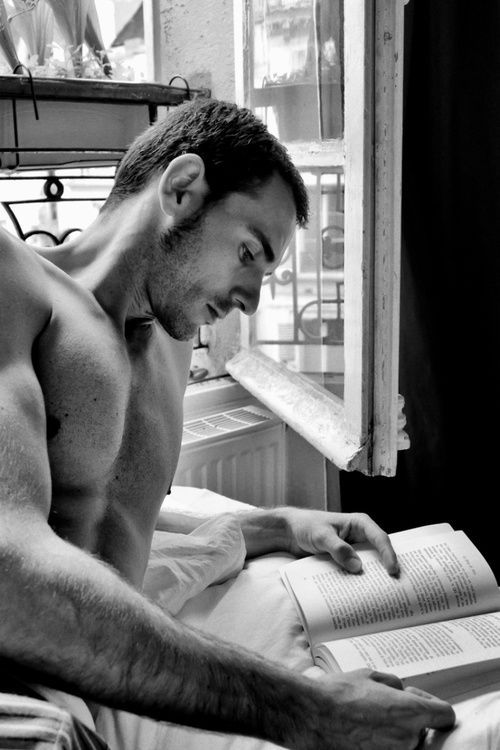 Image result for hot men reading