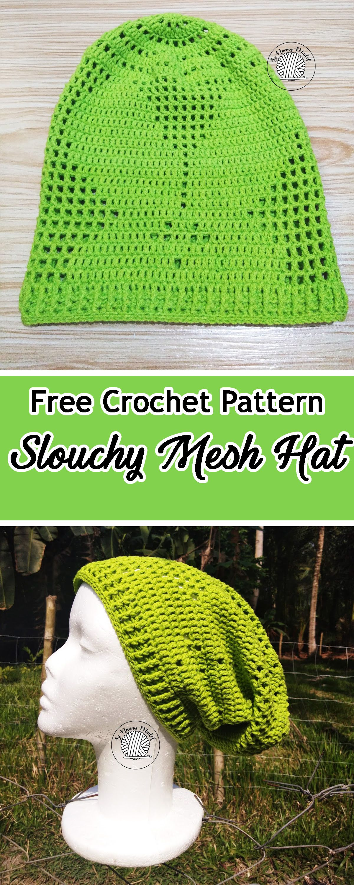 Slouchy Bunny Mesh Hat | Free Crochet Patterns from My Favorite ...