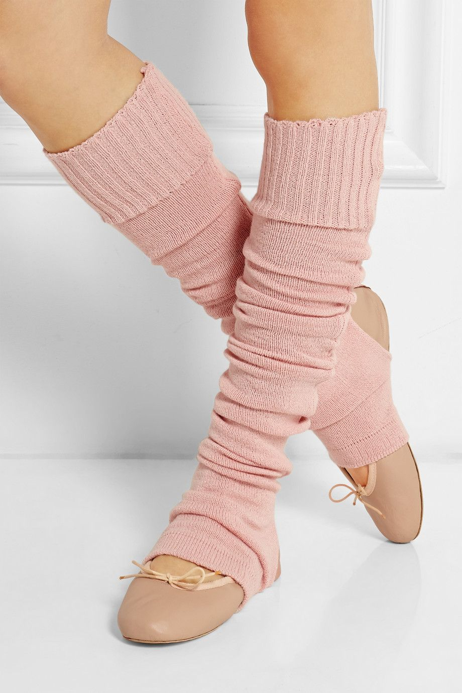 Ballet Beautiful|Lily knitted jersey legwarmers |NET-A-PORTER.COM
