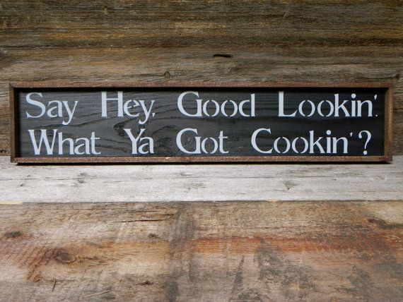 Kitchen Wall Decor, Handmade Wood Sign, Rustic Country