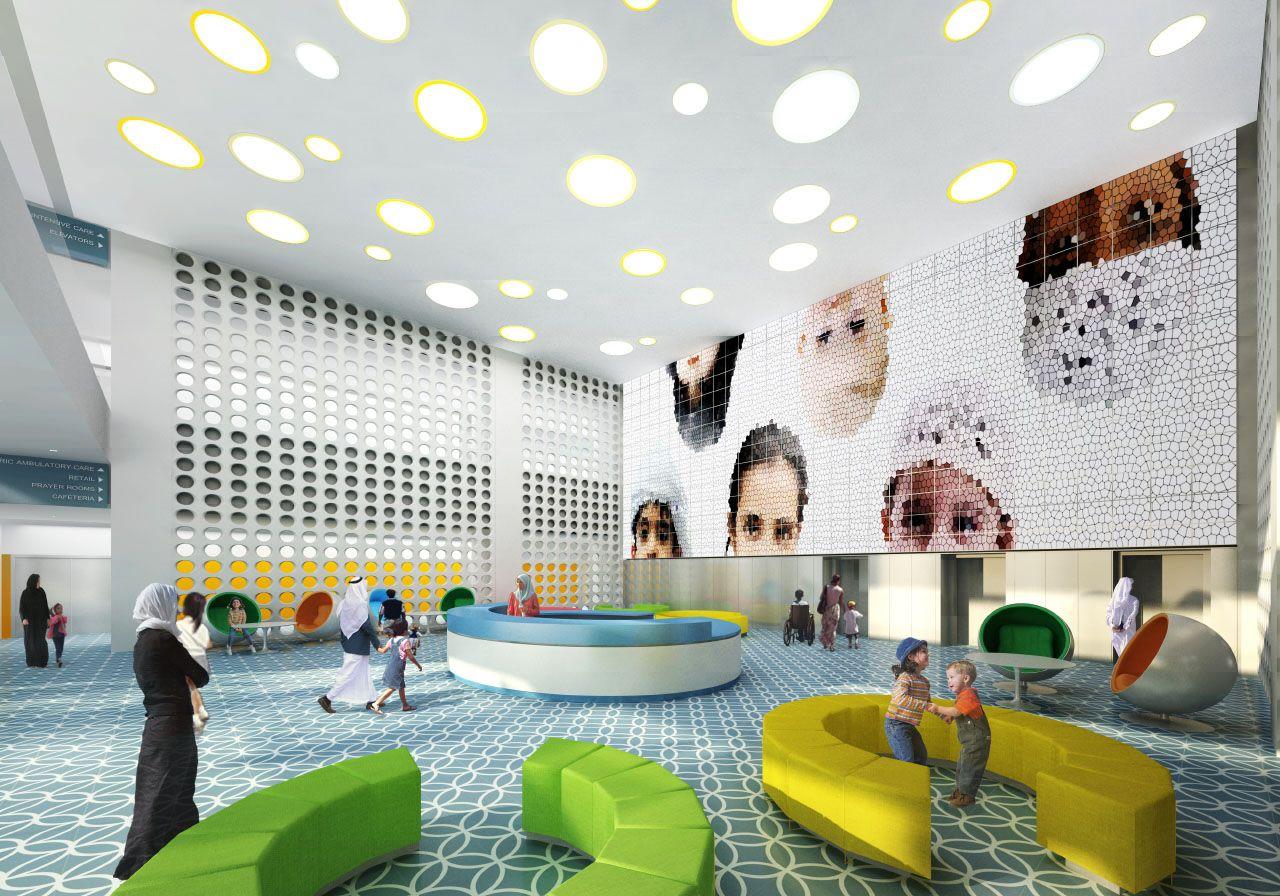 Skidmore Owings Merrill Sheikh Khalifa Hospital Buildipedia Hospital Design Corporate Interior Design Healthcare Design