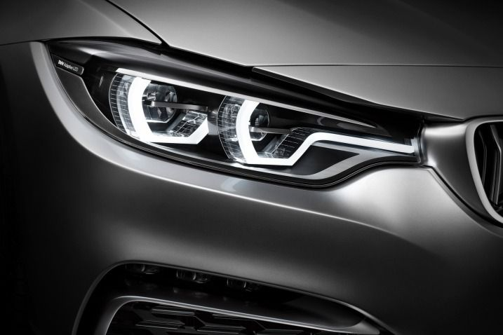 2014 BMW 4 series coupe headlamp system: loves the corona ring concept flowing into the kidney grille!
