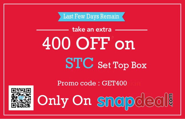f59b4868bcf Use Promocode   Get 400 - Rs Off On STC SET TOP BOX..........!!  Snapdeal   UsePromocode  GET400  MegaSale  LimitedTimeOffers  STC  SetTopBox   ...