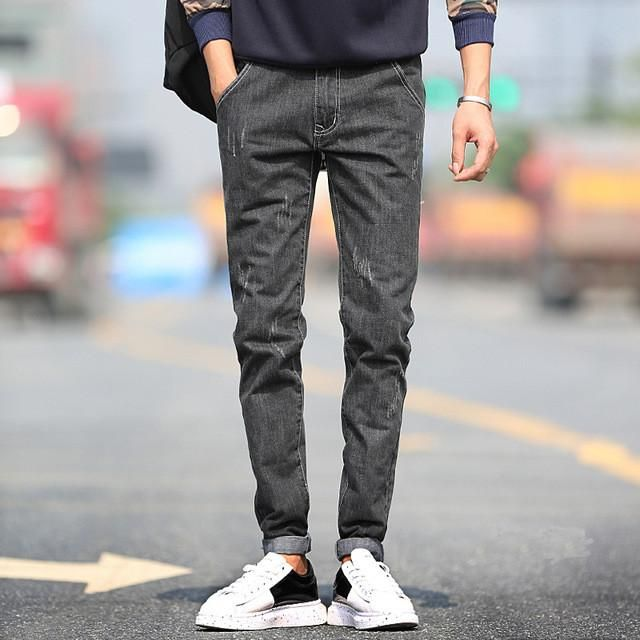 e62238e16ad New Arrival Fashion Men s Jeans Water-washed Straight Pants Blue Ripped  Jeans Men Robin Men S