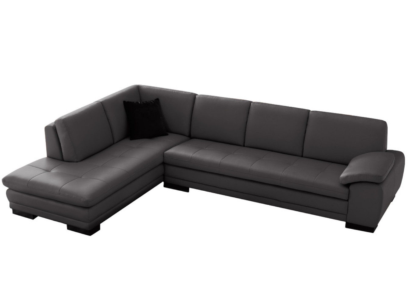 625 Modern Italian Leather Sectional by Ju0026M Gray Left Facing Chaise - $3599  sc 1 st  Pinterest : logan sectional sofa - Sectionals, Sofas & Couches