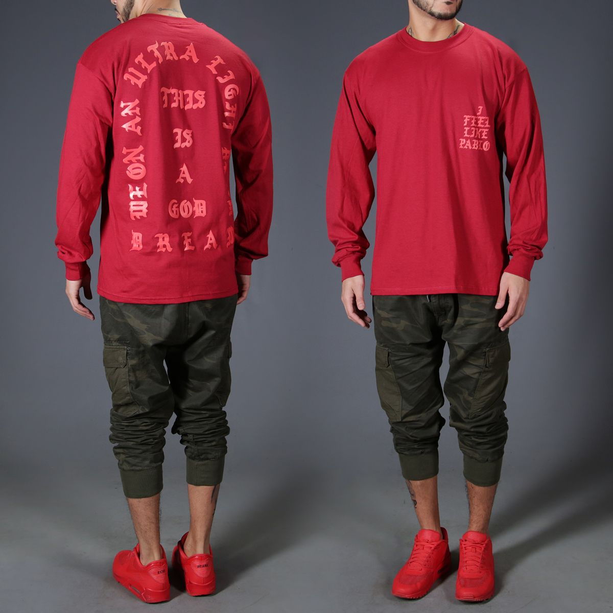 I feel Like Pablo Red long sleeve T-Shirt | Stuff to buy ...