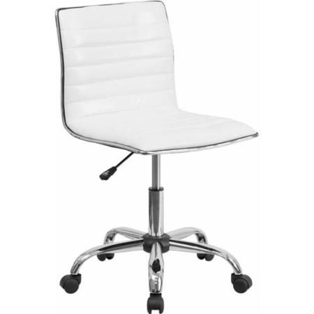 Flash Furniture Low-Back Armless Ribbed Designer Swivel Task Chair, Multiple Colors - Walmart.com