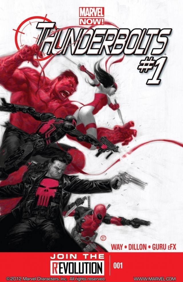 6166eddf4 2 #1 Marvel Now! brings a new Thunderbolts: Red Hulk, Venom, Elektra,  Deadpool, the Punisher. Forget courts, jails, the system -- these  Thunderbolts fight ...