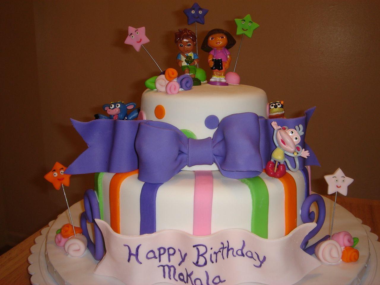 dora birthday cakes for girls Makalas Dora Birthday Cake Dora