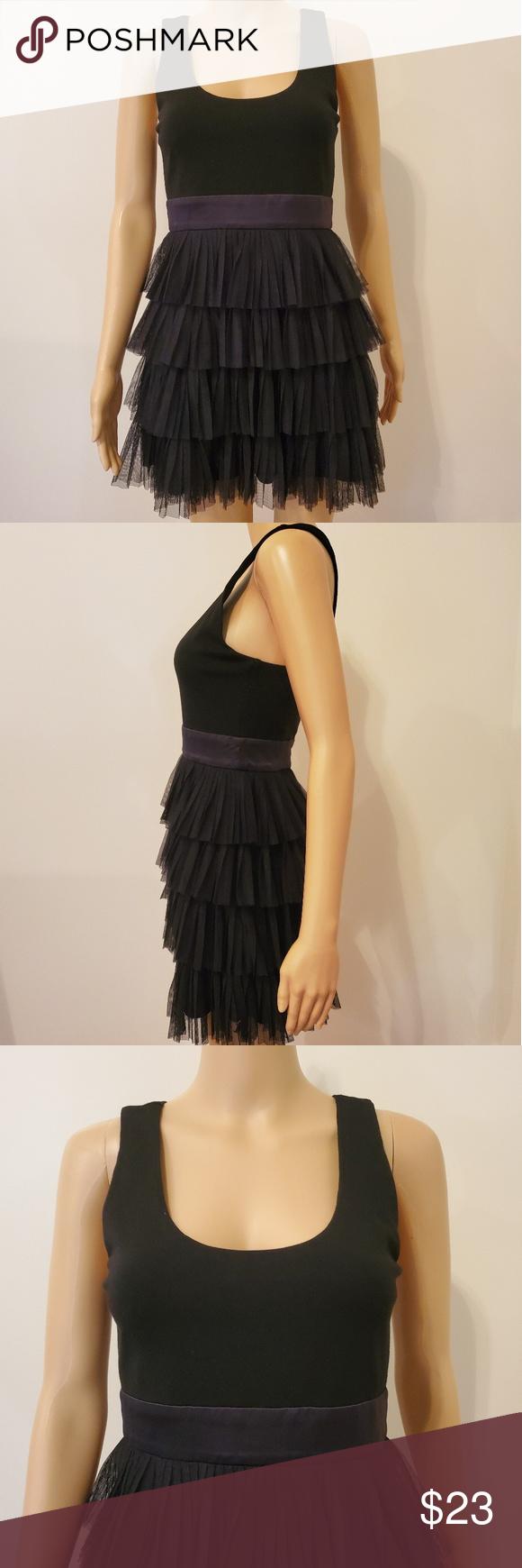 Host Pick Xxi Black Ruffle Bottom Dress Ruffle Bottom Dress Black Ruffle Clothes Design [ 1740 x 580 Pixel ]