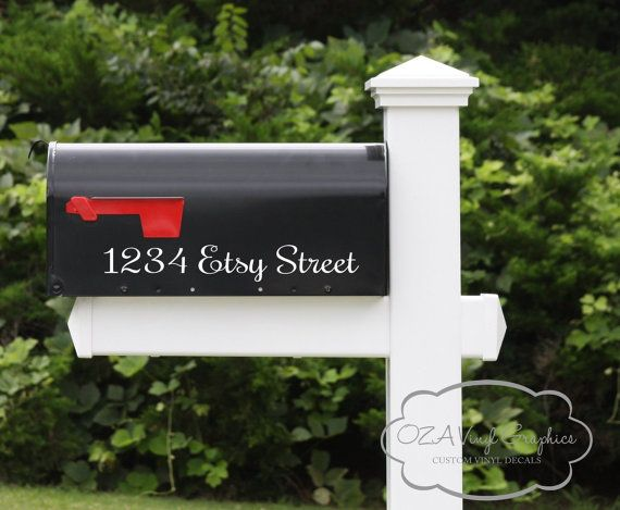 Mailbox Address Vinyl Decal Mailbox Numbers by OZAVinylGraphics