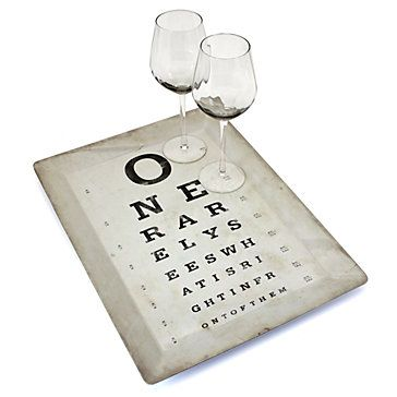 Z Gallerie Knock Off Eye Chart Tray Eye Chart Eye
