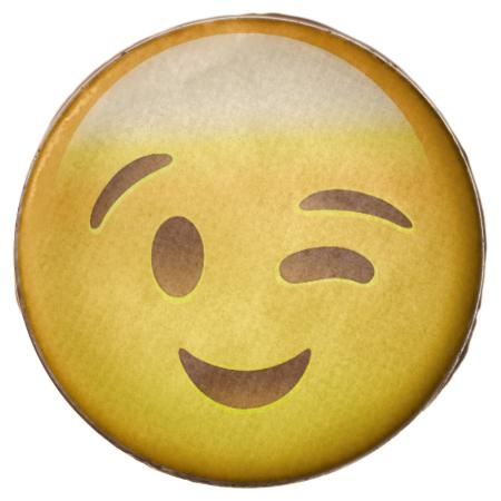 Winking Face Emoij Winking Face Winking Face Emoji Emoji Cookie
