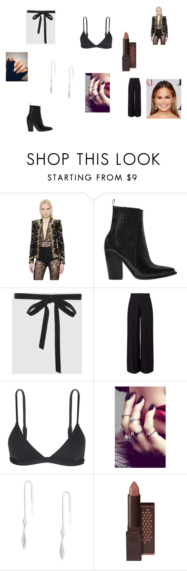 """Untitled #701"" by chicsetter-14 on Polyvore featuring Zuhair Murad, Sonia Rykiel, Gucci, Miss Selfridge, Mara Hoffman, Rock 'N Rose, FOSSIL and Burt's Bees"
