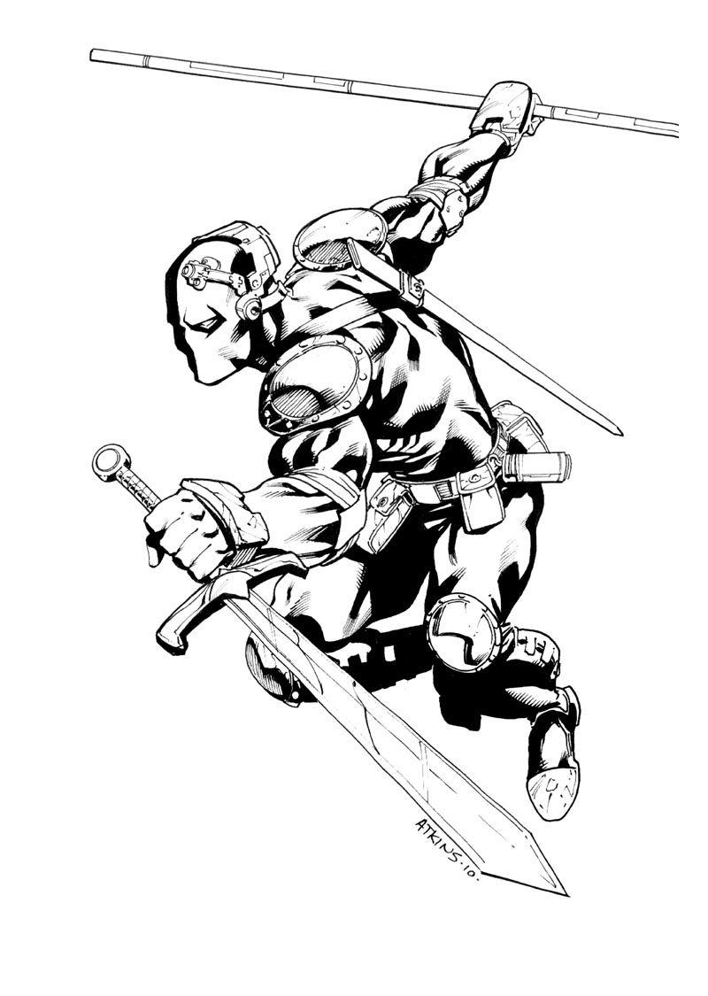 Deathstroke Sdcc Sketch By Robert Atkins Sketches Deathstroke