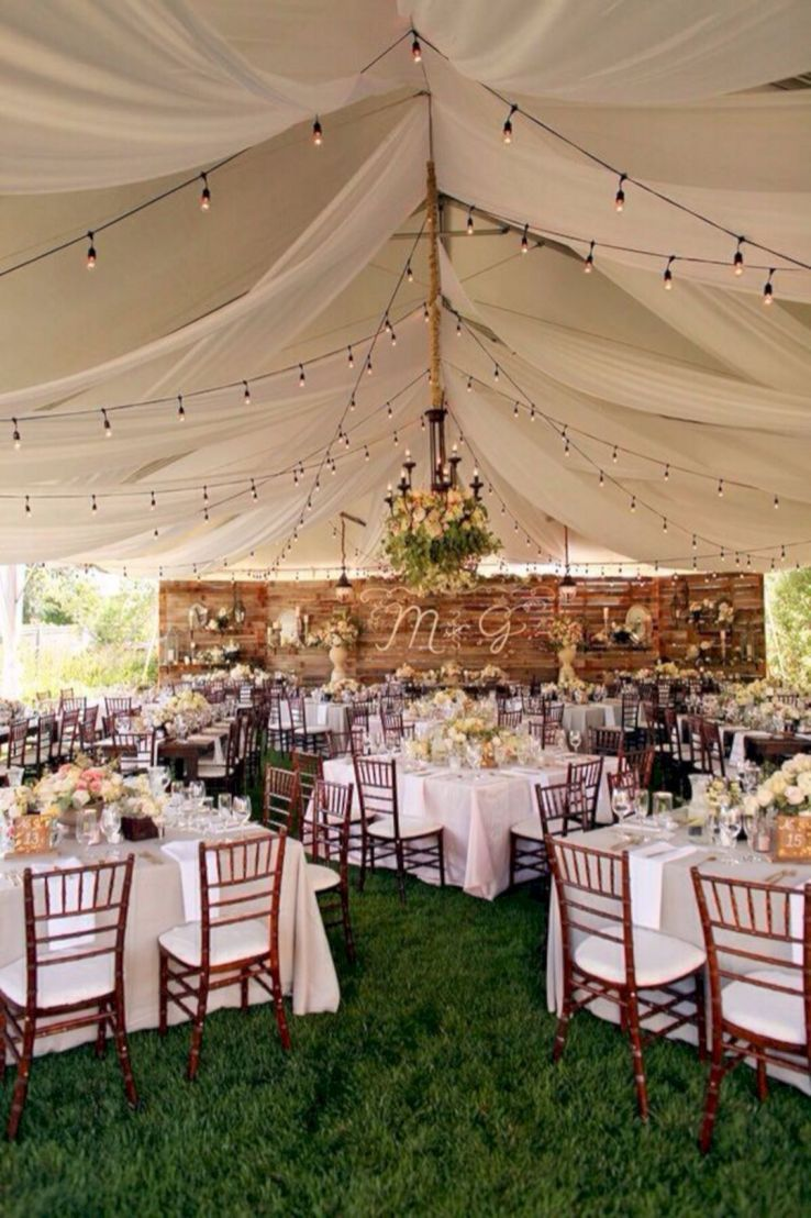 55 Best Backyard Wedding Decoration Ideas On A Budget Backyard Wedding Decorations Backyard Tent Wedding Outdoor Wedding Reception