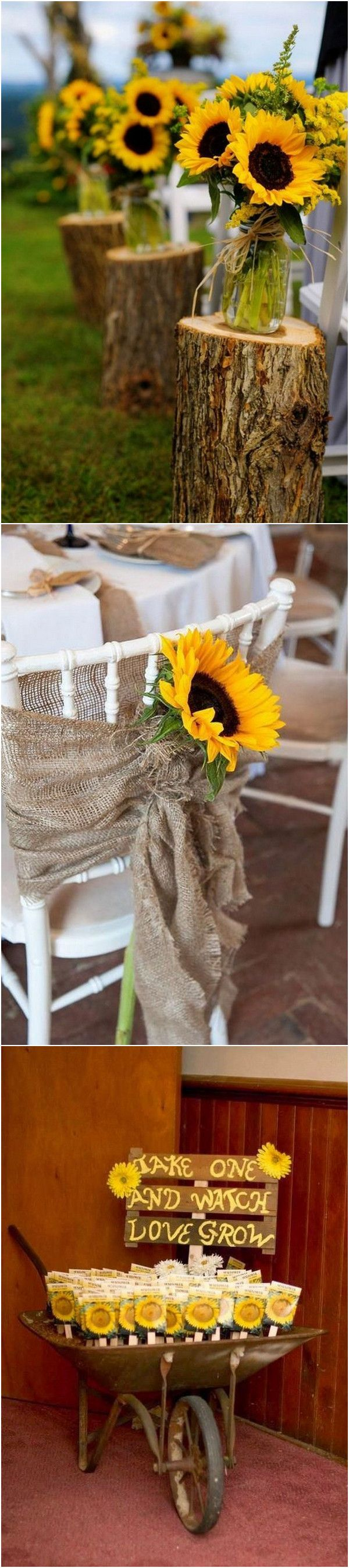 35 Pretty and Bright Sunflower Wedding Ideas (With images