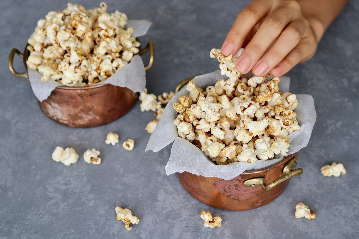 Vegan Caramel Popcorn Pick Up Limes Nourish The Cells