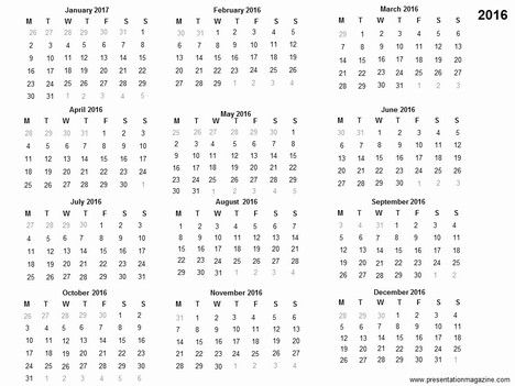 free printable 2016 calendar Free 2016 printable calendar - yearly calendar template
