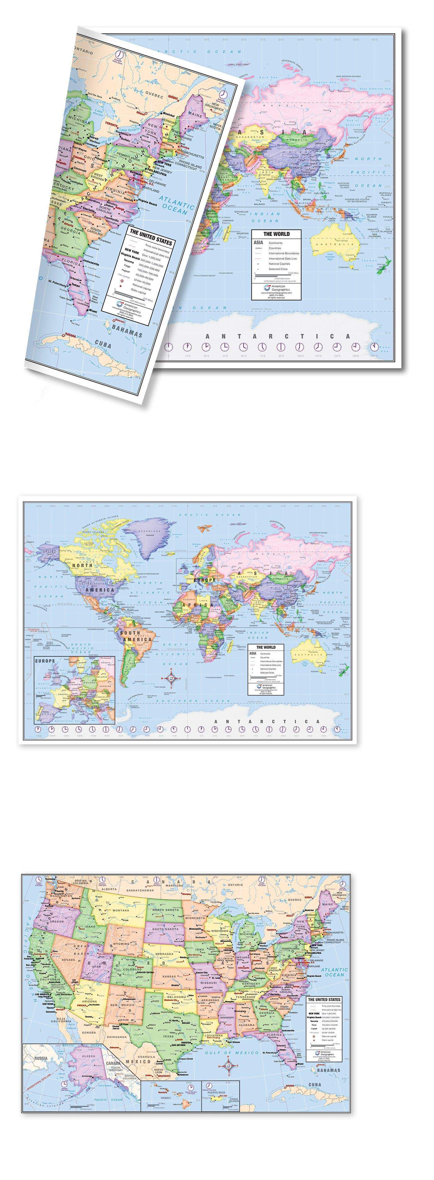 Globes and maps 102952 us and world desk map 5 map pack 13 x 18 globes and maps 102952 us and world desk map 5 map pack gumiabroncs Choice Image