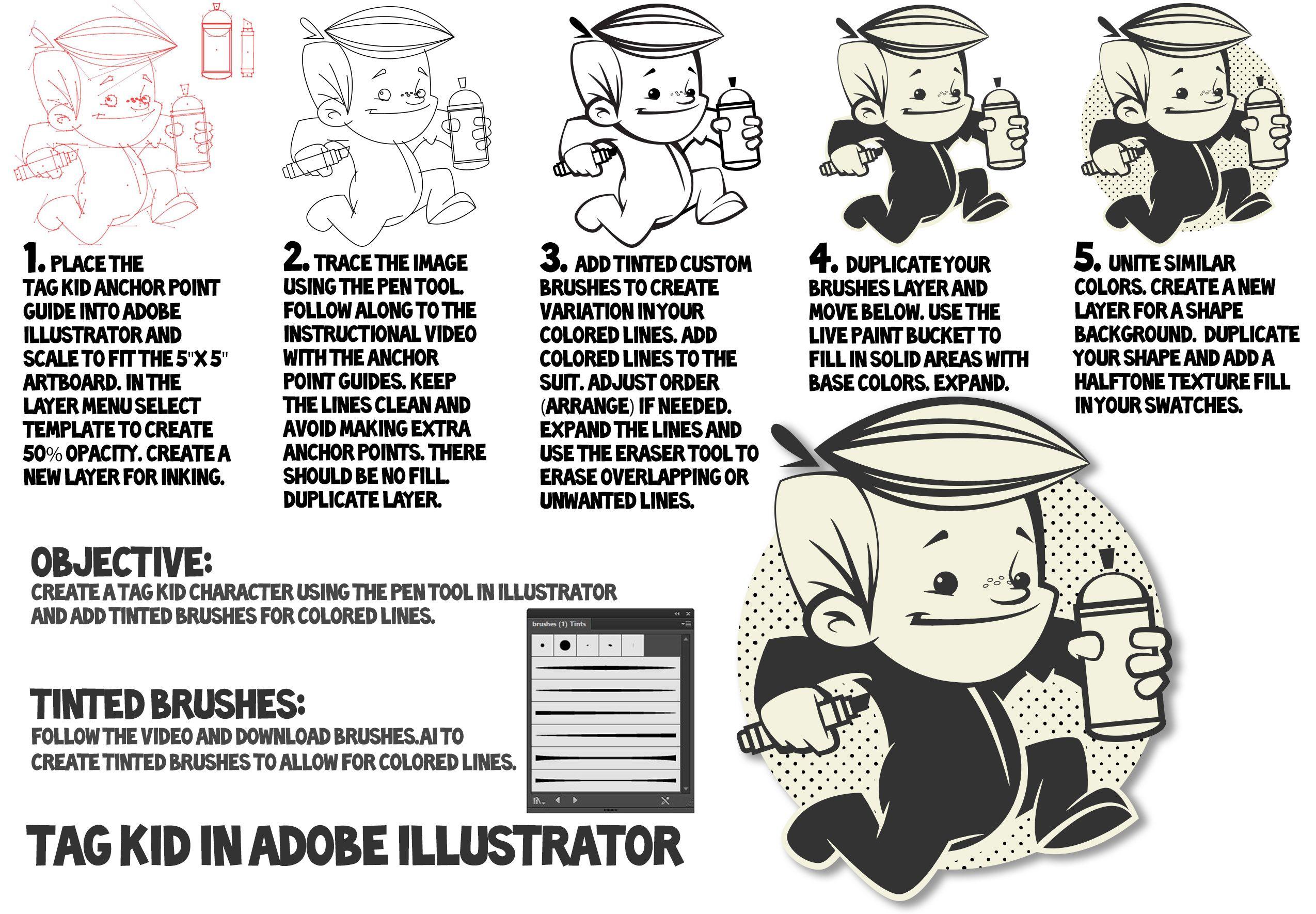 Easy to follow Adobe Illustrator how to make a cartoon