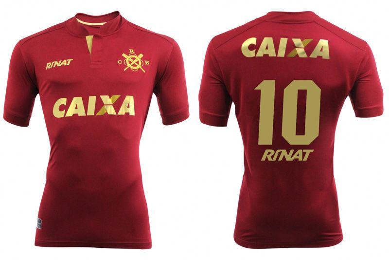 Quarta camisa grená do CRB 2016-2017 Rinat kit 01142590a448d